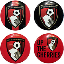 AFC Bournemouth 4 Pack Badges