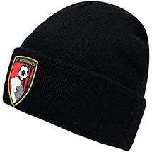 AFC Bournemouth Adults Crest Beanie Hat - Black