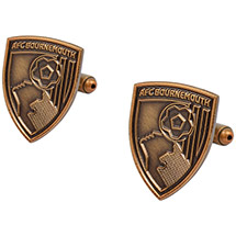 AFC Bournemouth Antique Gold Plated Crest Cufflinks