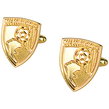 AFC Bournemouth Gold Plated Cufflinks