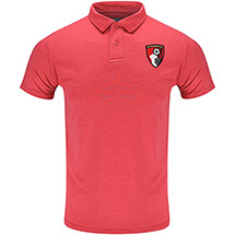 AFC Bournemouth Adults Dean Polo Shirt - Heather Red