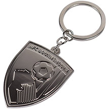 AFC Bournemouth Tonal Crest Keyring - Silver