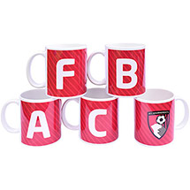 AFC Bournemouth A-Z Personalised Initial Mug