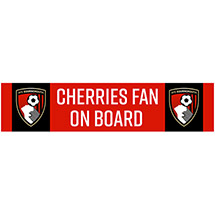 AFC Bournemouth CAR STICKER LONG