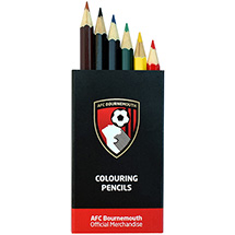 AFC Bournemouth 6 Colouring Pencils