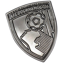 AFC Bournemouth Tonal Crest Pin Badge - Silver