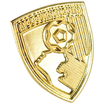 AFC Bournemouth Gold Plated Pin Badge