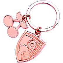AFC Bournemouth Rose Gold Crest Keyring
