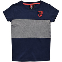 AFC Bournemouth Girls Short Sleeve T Shirt - Navy / Grey
