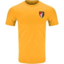 AFC Bournemouth Adults Tom T Shirt - Gold