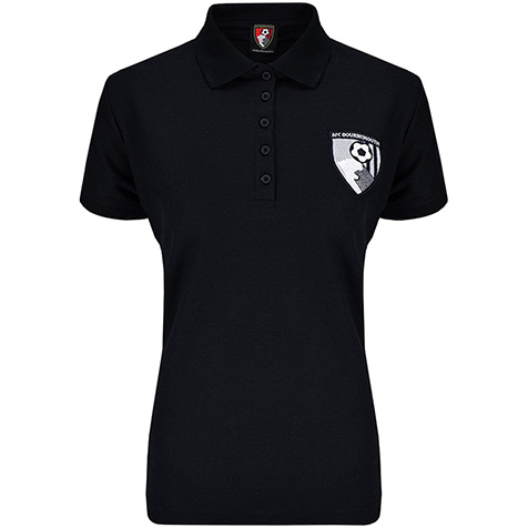 Womens Mia Polo Shirt - Black