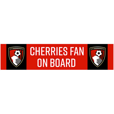 Cherries Fan On Board Car Sticker