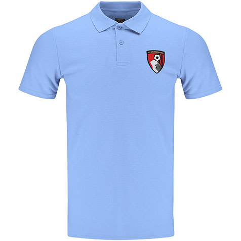 Adults Stewart Polo Shirt - Light Blue
