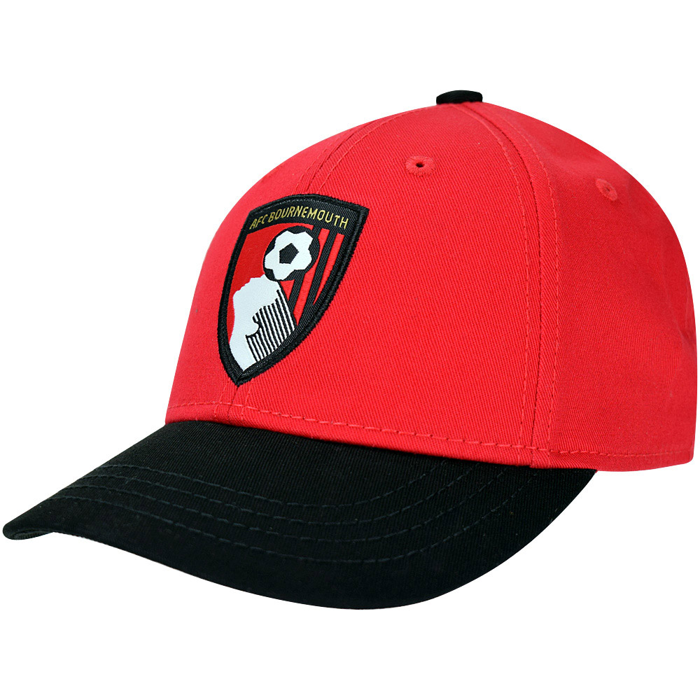 Youths Crest Baseball Cap - Red