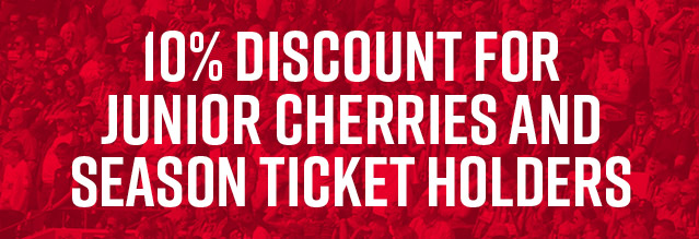 Junior Cherries & Season Ticket Holder Discount
