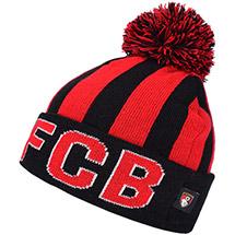 AFC Bournemouth Kids Striped AFCB Beanie Hat - Black / Red