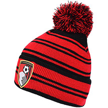 AFC Bournemouth Adults Black And Red Striped Beanie Hat