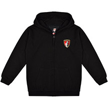 AFC Bournemouth Kids Bolder Full Zip Hoodie - Black