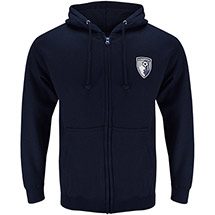 AFC Bournemouth Adults Core Zip Hoodie - French Navy