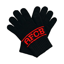 AFC Bournemouth Childrens Gloves - Black / Red