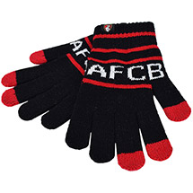 AFC Bournemouth Adults Touchscreen Gloves - Black