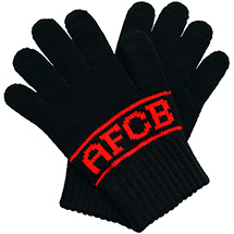 AFC Bournemouth Youth Gloves - Black / Red