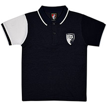 AFC Bournemouth Youths Science Polo Shirt - Navy / White