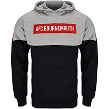 AFC Bournemouth Adults Wells Hoodie - Black / Grey