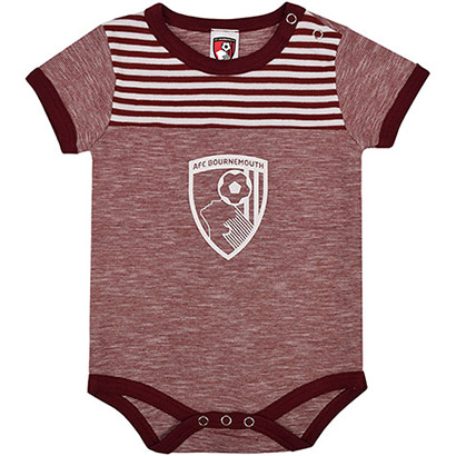 AFC Bournemouth Babies Bodysuit - Red Marl