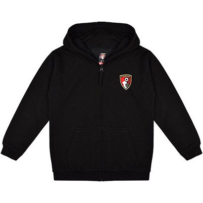 AFC Bournemouth Kids Bolder Full Zip Hoodie - Black