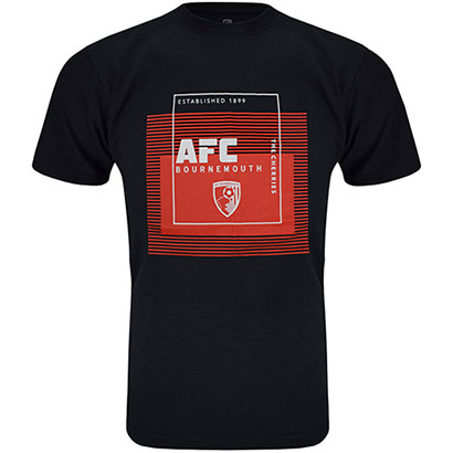 AFC Bournemouth Adults Bond T Shirt - Black