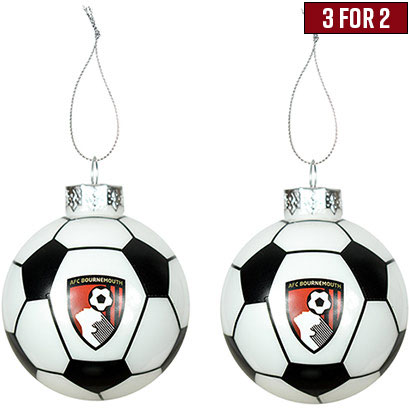 AFC Bournemouth Football Baubles - 2 Pack