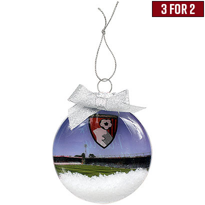 AFC Bournemouth Stadium Snow Globe Bauble