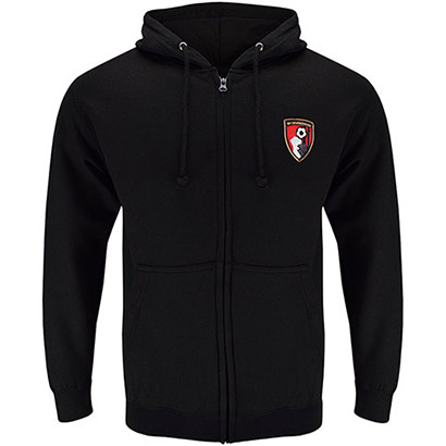 AFC Bournemouth Adults Core Zip Hoodie - Black