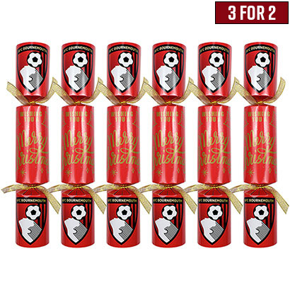 AFC Bournemouth Christmas Crackers - 6 Pack