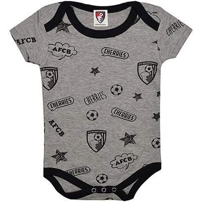 AFC Bournemouth Babies Graphic Bodysuit - Grey Marl