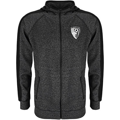 AFC Bournemouth Adults Greystein Full Zip Hoodie - Grey Marl