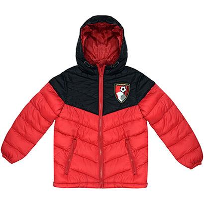 AFC Bournemouth Kids Panama Jacket - Black / Red