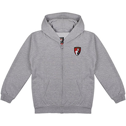 AFC Bournemouth Kids Radio Full Zip Hoodie - Grey
