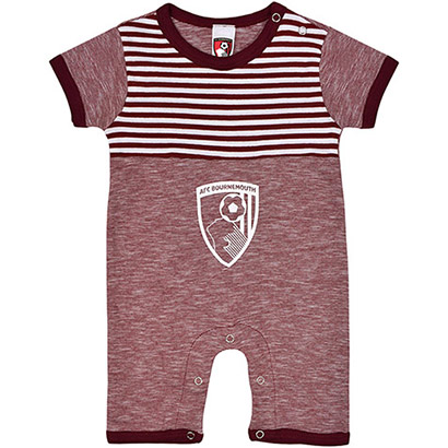 AFC Bournemouth Babies Romper Suit - Red Marl