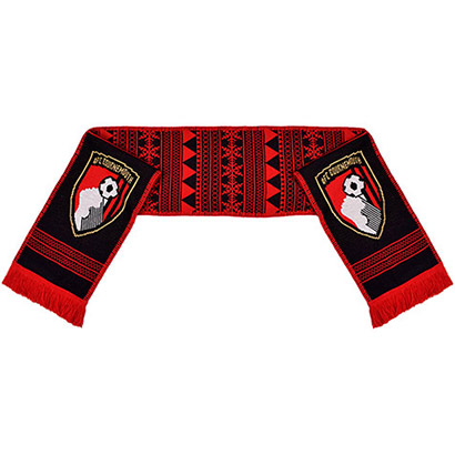 AFC Bournemouth Black Fleece Backed Scarf