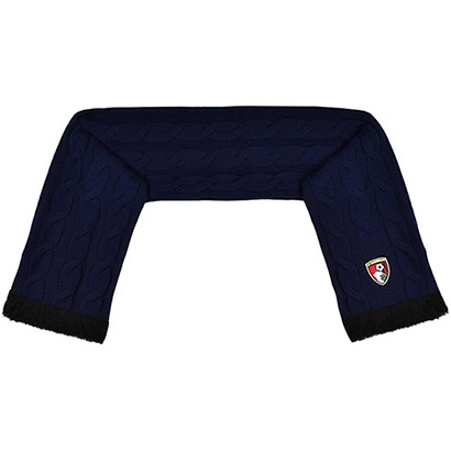 AFC Bournemouth Cable Knit Scarf - Navy