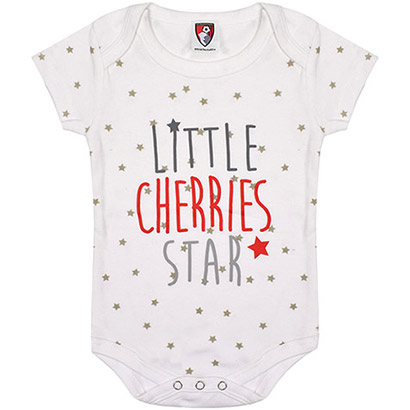 AFC Bournemouth Babies Star Bodysuit - White