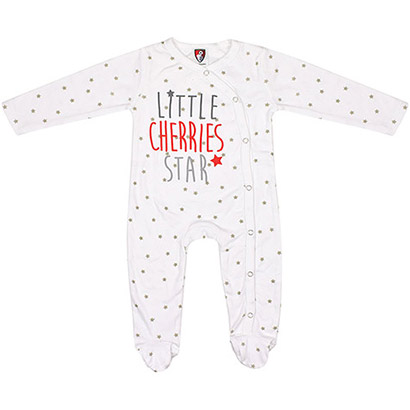 AFC Bournemouth Babies Star Sleepsuit - White
