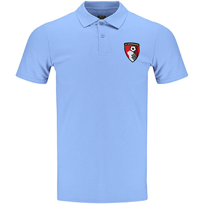 AFC Bournemouth Adults Stewart Polo Shirt - Light Blue