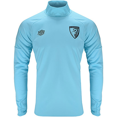 AFC Bournemouth Adults 21/22 Training Drill Top - Light Blue