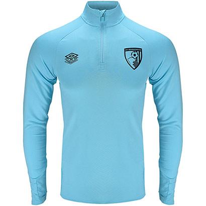 AFC Bournemouth Adults 21/22 Training Half Zip Top - Light Blue
