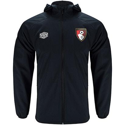 AFC Bournemouth Adults 21/22 Training Shower Jacket - Black / Navy