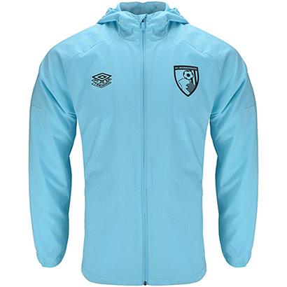 AFC Bournemouth Adults 21/22 Training Shower Jacket - Light Blue