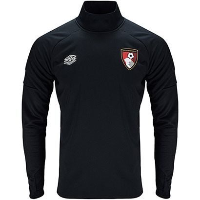 AFC Bournemouth Childrens 21/22 Training Drill Top - Black